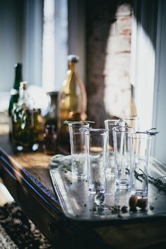 sage + ginger prosecco cocktail by Beth Kirby   {local milk}, via Flickr