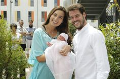 Prince Félix and Princess Claire's newborn daughter Princess Amalia on Tuesday 17 June 2014 was presented to the press at her first photo call.