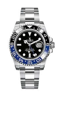 The new Oyster Perpetual GMT-Master II is presented in steel, with a rotatable bezel featuring for the first time a two-colour ceramic Cerachrom bezel insert in blue and black representing day and night. Fine Watches, Rolex Watches, Discount Watches, Swiss Style, Mens Fashion Suits, Mens Suits, Rolex Gmt Master, New Rolex, Sports Models