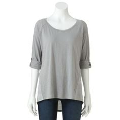 SONOMA life + style Striped Roll-Tab Top - Women's