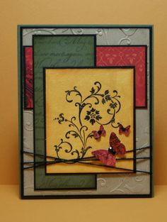 Great color combo. Great for a fall card too.