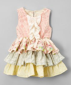 Look at this Caught Ya Lookin' Pink & White Floral Katie Dress - Infant & Toddler on #zulily today!