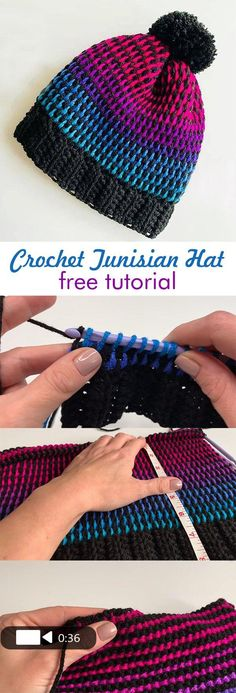 Learn how to crochet this exquisite hat/beanie.DIY Crochet Beanie Hat Free Patterns Baby Winter HatCrochet patterns free beanie hopeful honey IdeasOne Hour Free Crochet Hat Pattern for Beginners (+… Tunisian Crochet Patterns, Crochet Patterns For Beginners, Knitting Patterns, Crochet Gratis, Free Crochet, Beginner Knit Scarf, Crochet Beanie Hat, Crochet Hair, Crochet Clothes
