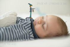 © Lumi Poullaouec - www.lumi.me Le marchand de sable #illustration #photographie #photography #sandman #marchand #sable #maternité #bébé #idea #photoshop #baby