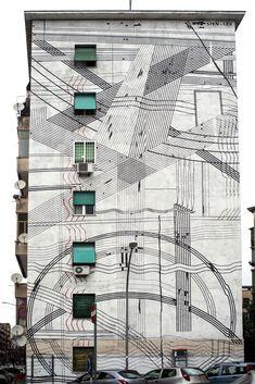 StreetArtRoma: Paesaggio | Sten Lex | 2013 | Zona: Garbatella | #art #streetart #roma