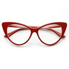 zeroUV® - Super Cat Eye Glasses Vintage Inspired Mod Fashion Clear Lens Eyewear (Red) frame&optic http://www.amazon.com/dp/B00BGI52OY/ref=cm_sw_r_pi_dp_EwzZtb0F5GNDH5Q0
