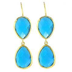Turquoise Quartz Double Earring  Price: $250.00
