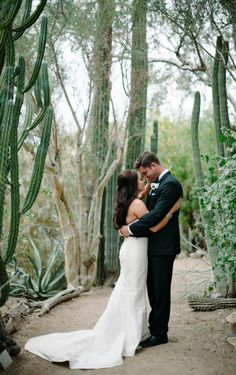 Black and Gold Palm Springs Wedding - Inspired By This