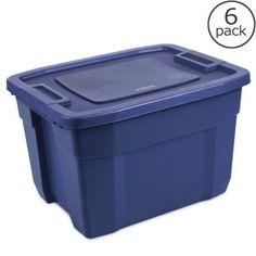 Sterilite 72-Qt. Tuff 1 Tote (6-Pack)-16754S06 - The Home Depot. $63.34