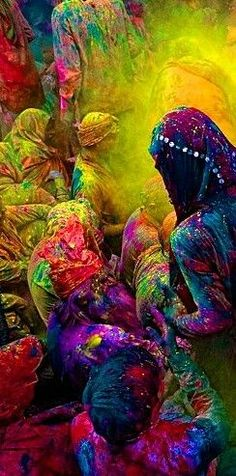 "Hindu celebration-India's exciting Holi or ""Festival of Colors"""