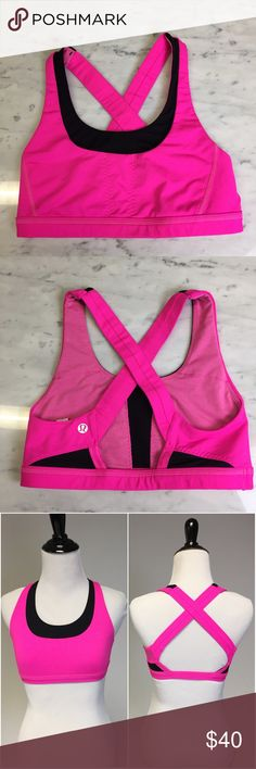 Lululemon Stuff Your Bra Sports Bra Gently used. Some small tags on the front black mesh portion but hardly noticeable. No pads but you get get them free at Lululemon. Perfect for putting your chapstick or small items in lululemon athletica Intimates & Sleepwear Bras