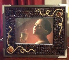 Coffee Beans Picture Frame (decor & gift) on Etsy, $30.00