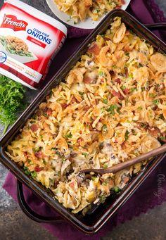 Loaded Cheesy Chicken Noodle Casserole