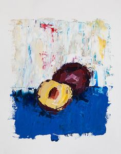 Plum Fruit Painting  Abstract Painting  Kitchen Art by ebuchmann, $100.00