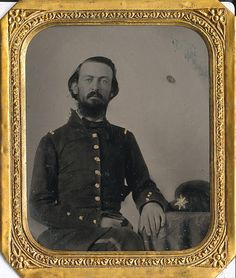 Captain A. W. Gloster commanding Co. C of the 3rd Confederate Engineer Troops.
