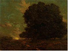 grandville redmond   Granville Redmond - A Canyon Oak by Granville Redmond   Painting