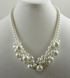 102 White Cluster 20' Necklace with Earrings Set. $30.00. Pin it Coupon code (DDB6230) 10% discount off purchase.