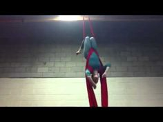 Aerial silks drop: suspender slip Roller coaster done as a drop rather then decent.