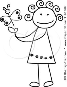 Google Image Result for http://images.clipartof.com/small/1106506-Clipart-Black-And-White-Stick-Drawing-Of-A-Happy-Girl-Playing-With-A-Butterfly-Royalty-Free-Vector-Illustration.jpg