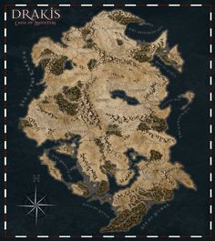 Dnd World Map, Fantasy World Map, Fantasy Places, Imaginary Maps, Rpg Map, Dungeon Maps, Old Maps, Dark Ages, Cool Landscapes