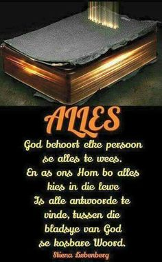 God is my alles! Scripture Verses, Bible Verses Quotes, I Love You God, Afrikaanse Quotes, Beautiful Prayers, Little Things Quotes, Prayer Quotes, Good Morning Quotes, Christian Quotes