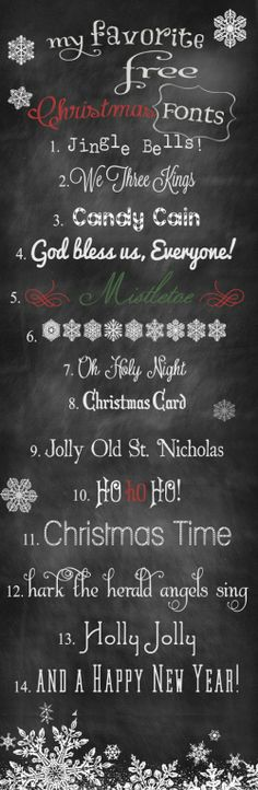 14 Free Holiday Fonts | Content in a Cottage