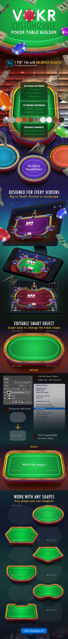 Buy Vokr: Poker Table Builder by weirdeetz on GraphicRiver. The most customizable poker table maker on the marketplace! Vokr is the only thing you need to create stunning realis. Recycled Art Projects, Easy Art Projects, Ui Ux Design, Diy Design, Illustration Art Drawing, Drawing Art, Art Deco Typography, Table Maker, Canvas Art Quotes