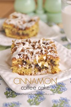Cinnamon Coffee Cake using a cake mix- semi- homemade, easy and delicious!