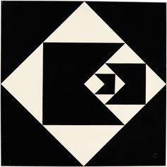 Radical Geometry, a nova expo no Royal Academy de Londres de arte da America Latina.   Geraldo de Barros Diagonal Function 1952 Lacquer on plywood 62.9 x 62.9 x 1.3 cm Colección Patricia Phelps de Cisneros. © Fabiana and Lenora de Barros