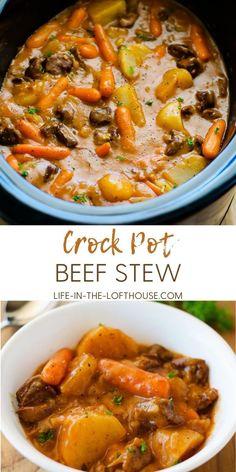 Crock Pot Food, Crockpot Dishes, Crock Pot Slow Cooker, Slow Cooker Recipes, Beef Recipes, Cooking Recipes, Crock Pots, Crock Pot Stew, Beef Stew Slow Cooker