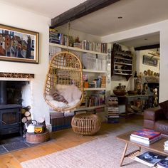 Eclectic living room // living room