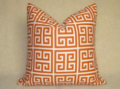 Designer Decorative Greek Key Pillow  Squares  by WillaSkyeHome, $28.00
