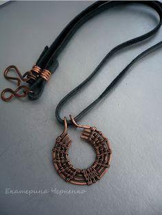 Male pendant copper by ekaterina Chernenko
