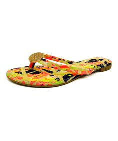 Yellow & Coral Inspire Sandal