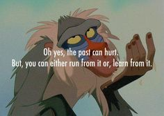 """Tell it, Rafiki! (Does this mean I get permission to whack people on the head? """"It doesn't matter; it's in the past!"""" )"""