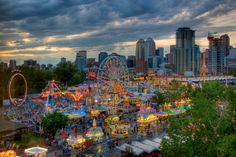 Sunset at the  Calgary Stampede