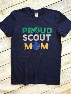 Proud Scout Mom Gold Mens Sweatshirt