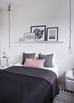 24 Trendy Bedroom Design Small Room How To Decorate Simple Bedroom Decor, Trendy Bedroom, Modern Bedroom, Contemporary Bedroom, Dream Bedroom, Bedroom Wall, Bedroom Storage, Bedroom Lamps, White Bedroom