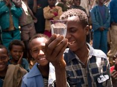Achenef drinks clean water for the first time -- Charity Water, Mekele, Ethiopia