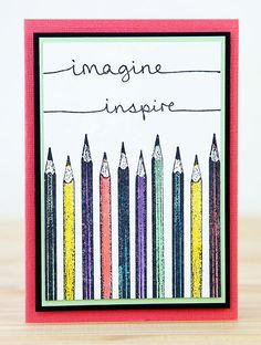 Card by Rachel Greig using Darkroom Door Pencils Eclectic Stamp