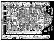 Map of the castle in BITTERBLUE by Kristin Cashore