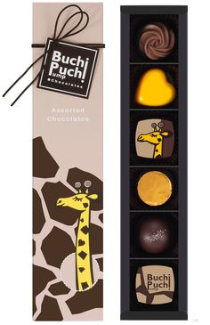 Fun chocolate packaging // BuchiPuchiPump(Giraffe)