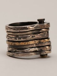 Tobias Wistisen Stacked Rings - Patron Of The New - Farfetch.com
