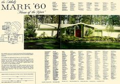 Scholz Mark '60 House of the Year - House & Garden 1960 (1 of 6) | Flickr - Photo Sharing!