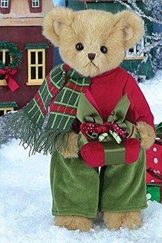 Bearington Bears Preston Presents Plush Christmas Teddy Bear with Gift, Tall Christmas Scenes, Christmas Love, Christmas Holidays, Teddy Bear Pictures, Christmas Teddy Bear, Boyds Bears, Bear Wallpaper, Love Bear, Cute Teddy Bears
