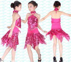 Details about Childrens Latin Salsa Ballroom Dance Dress Girls ...