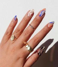 Nail Design Stiletto, Nail Design Glitter, Best Acrylic Nails, Summer Acrylic Nails, Shellac Nail Art, Funky Nails, Funky Nail Art, Fire Nails, Grunge Nails