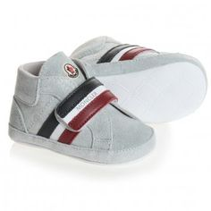 Moncler Baby Silver Pre-Walker Trainers at Childrensalon.com