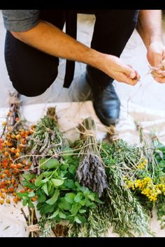 kinfolk. Herbs as wedding flowers? - yes, please!