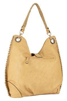 {Big Buddha Naples Stitch Detail Hobo Bag}